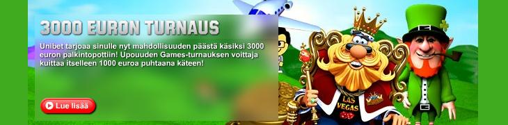 Unibetillä 3000 euron Games-turnaus