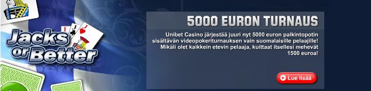 Unibetillä 5000 euron videopokeriturnaus