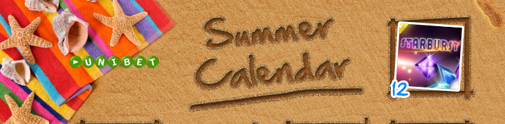 Unibet julkaisi oman kesäkalenterinsa - hae aloituspäivän ilmaiskierrokset